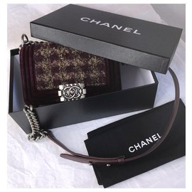 Chanel-Limited Boy Flap Bag w/box and dustbag-Brown