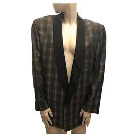 Pierre Cardin-Check Jacket-Grey