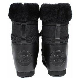 Chanel-Snow boots-Black