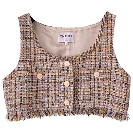 Chanel-New 2018 crop tweed vest-Multiple colors