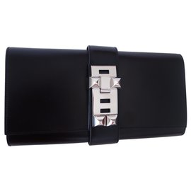 Hermès-Hermes Gm Médor pouch-Black