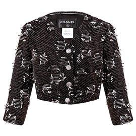 Chanel-2015 Spring Runway jacket-Black