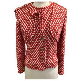 Chanel-Chanel jacket-White,Red