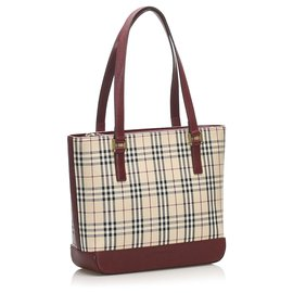 Burberry-Burberry Brown House Check Nylon Tote Bag-Brown,Multiple colors,Beige