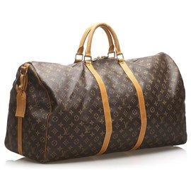 Louis Vuitton-Louis Vuitton Keepall Monogram Brown 60-Marron