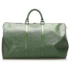 Louis Vuitton-Louis Vuitton Green Epi Keepall 50-Vert