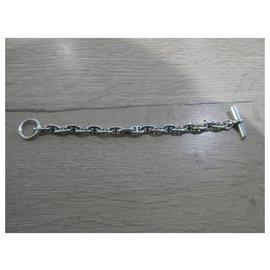 Hermès-Bracelet hermès chaîne d ancré en argent massif Pm-Argenté