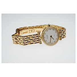 Van Cleef & Arpels-Montre Van Cleef & Arpels avec cadran en diamant blanc et lunette en diamant-Doré,Bijouterie dorée