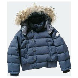 Moncler-Fur hood-Bleu