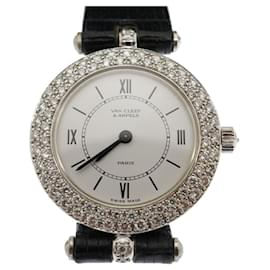 Van Cleef & Arpels-VAN CLEEF & ARPELS Classique 18Montre diamant en or blanc k-Argenté,Bijouterie dorée