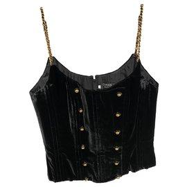 Chanel-Tops-Black,Gold hardware