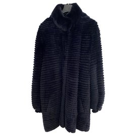 Yves Salomon-Reversible long jacket Yves Salomon-Navy blue