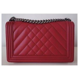 Chanel-Chanel Boy red bag-Red