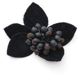Chanel-ELDERBERRY BLACK VELVET-Noir