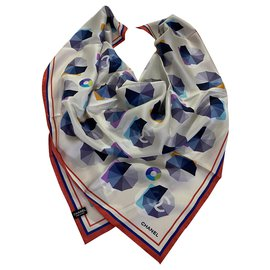 Chanel-Chanel multicolored foulard-Multiple colors