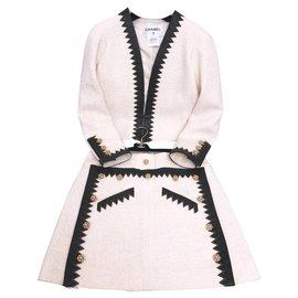 Chanel-Paris-Salzburg jacket + skirt-Cream