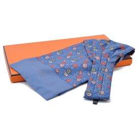 Hermès-Hermès scarf-Blue