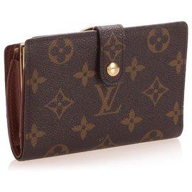 Louis Vuitton-Louis Vuitton Brown Monogram Viennois Continental Wallet-Brown