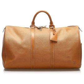 Louis Vuitton-Louis Vuitton Brown Epi Keepall 50-Marron