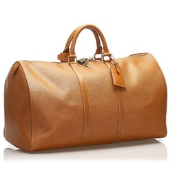 Louis Vuitton-Louis Vuitton Brown Epi Keepall 50-Brown