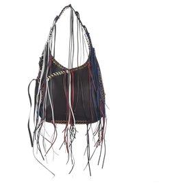 Alexander Mcqueen-Alexander McQueen Black Leather Hobo Bag-Black,Multiple colors