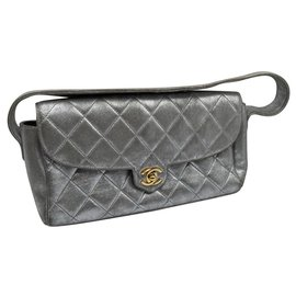 Chanel-Chanel baguette bag-Silvery