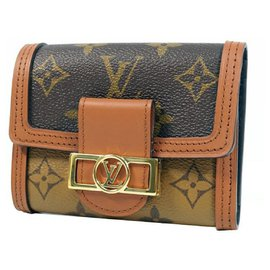 Louis Vuitton-Portofeuilles Louis Vuitton Portofeuilles Dauphine compact Femme Portefeuille à trois volets M68725-Autre
