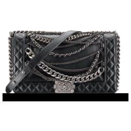Chanel-Chanel boy multichaines MM-Black