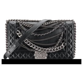 Chanel-Chanel boy multichannel MM-Black