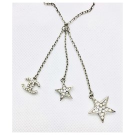 Chanel-Necklaces-Silvery