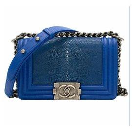 Chanel-Unique Boy Stingray Electic Blue Small-Blue