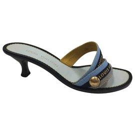 Louis Vuitton-Wedge mules-Blue
