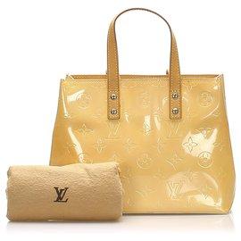 Louis Vuitton-Louis Vuitton Brown Vernis Reade PM-Marron,Beige,Marron clair
