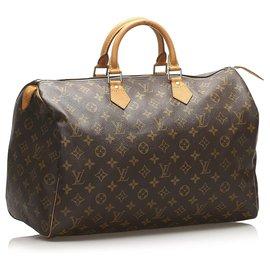 Louis Vuitton-Louis Vuitton Monogram Brown Speedy 40-Marron