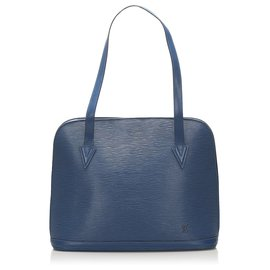 Louis Vuitton-Louis Vuitton Blue Epi Lussac-Blue,Dark blue