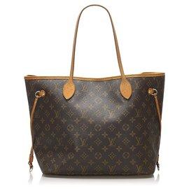 Louis Vuitton-Louis Vuitton Brown Monogram Neverfull MM-Marron