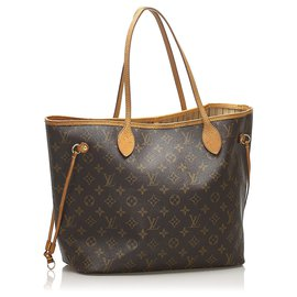 Louis Vuitton-Louis Vuitton Brown Monogram Neverfull MM-Brown