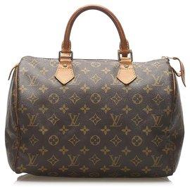 Louis Vuitton-Louis Vuitton Brown Monogram Speedy 30-Brown