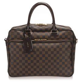 Louis Vuitton-Louis Vuitton Brown Damier Ebene Icare Laptop Bag-Brown