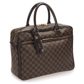 Louis Vuitton-Louis Vuitton Brown Damier Ebene Icare Laptop Bag-Marron