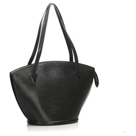 Louis Vuitton-Louis Vuitton Black Epi Saint Jacques GM Long Strap-Noir