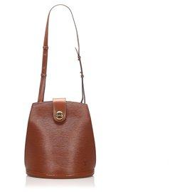 Louis Vuitton-Louis Vuitton Brown Epi Cluny-Marron
