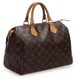 Louis Vuitton-Louis Vuitton Monogram Brown Speedy 30-Marron