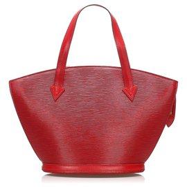 Louis Vuitton-Louis Vuitton Red Epi Saint Jacques PM Short Strap-Red