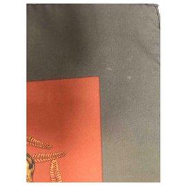 Hermès-Scarves-Khaki