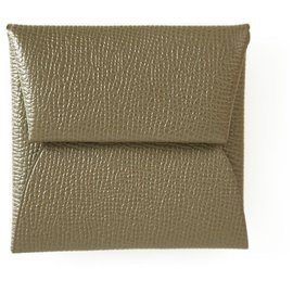 Hermès-Hermes Bastia Change purse in Epsom calf leather with palladium hardware coin pouch-Taupe
