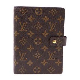 Louis Vuitton-Louis Vuitton Monogram Agenda MM Porte-carnet de chèques-Marron
