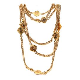 Chanel-Chanel Gold 10 Motif CC Charms Long Necklace-Golden