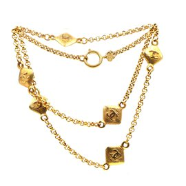 Chanel-Chanel Gold 6 Motif CC Charms Long Necklace-Golden