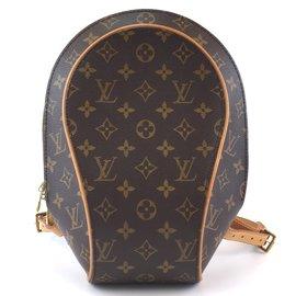Louis Vuitton-Toile Monogram Louis Vuitton sac á dos Ellipse-Marron